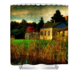 Day Is Done Shower Curtain by Lois Bryan
