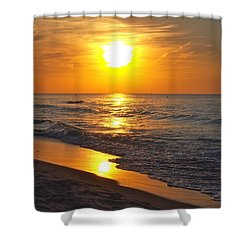 Day Is Done Shower Curtain by Pamela Clements