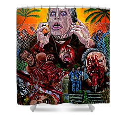Day Of The Dead Shower Curtain by Jose Mendez