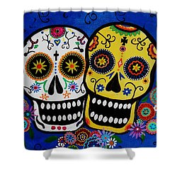 Day Of The Dead Sugar Shower Curtain