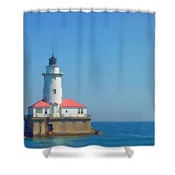 Day On The Lake Shower Curtain by Lyle Hatch