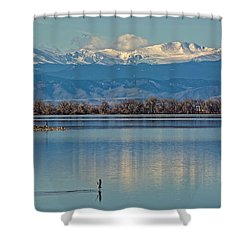 Day On The Lake Shower Curtain