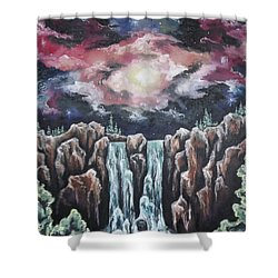 Day One, The Beginning Shower Curtain by Cheryl Pettigrew