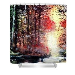 Daybreak 2 Shower Curtain by Anil Nene