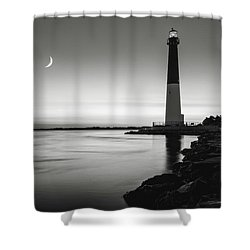 Shower Curtain featuring the photograph Daybreak At Barnegat, Black And White by Eduard Moldoveanu