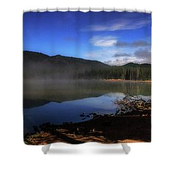 Shower Curtain featuring the photograph Daybreak At Sparks Lake by Cat Connor