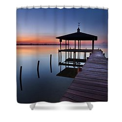 Daybreak Shower Curtain by Debra and Dave Vanderlaan