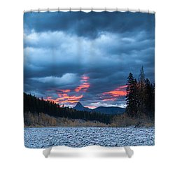 Shower Curtain featuring the photograph Daybreak by Fran Riley