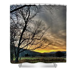 Shower Curtain featuring the photograph Daybreak In The Cove by Douglas Stucky