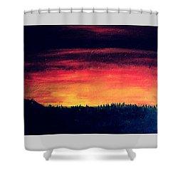 Daybreak Number Four Shower Curtain by Scott Haley