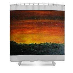 Daybreak Number Three Shower Curtain by Scott Haley