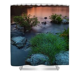Daybreak Over The Old Riverbed Shower Curtain