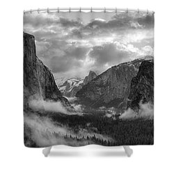 Daybreak Over Yosemite Shower Curtain