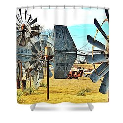 Daylight In The Garden Of Rust And Metal Shower Curtain