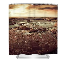 Daylight Leaving Redrock Shower Curtain