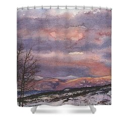 Daylight's Last Blush Shower Curtain