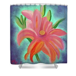 Daylily At Dusk Shower Curtain