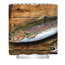 Day's Catch Shower Curtain by Chad Berglund