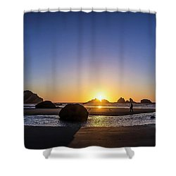 Day's End At Bandon Shower Curtain