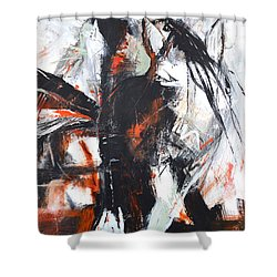 Shower Curtain featuring the painting Day's End by Cher Devereaux