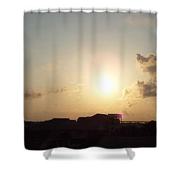 Days End Shower Curtain by Jake Hartz