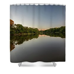 Shower Curtain featuring the photograph Day's End On The Creek by Charles Kraus