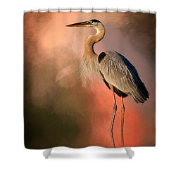 Day's Fiery End Shower Curtain