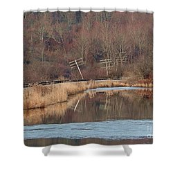 Shower Curtain featuring the photograph Days Gone Bye by Christian Mattison