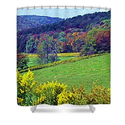 Days Of Gold And Crimson Shower Curtain