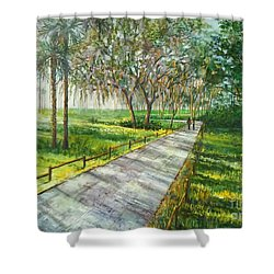 Dayspring Retreat Shower Curtain by Lou Ann Bagnall