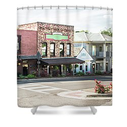 Shower Curtain featuring the photograph Daytime In Old Town Helena by Parker Cunningham