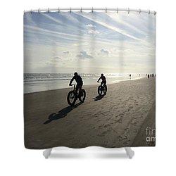 Daytona Beach Bikers Shower Curtain