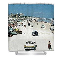 Daytona Beach Florida - 1957 Shower Curtain by Merton Allen
