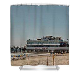 Daytona Beach Pier Pano Shower Curtain