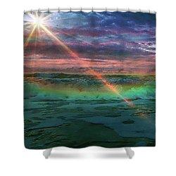 Daytona Rainbow Shower Curtain