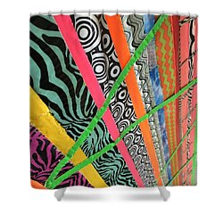 Shower Curtain featuring the photograph Dazzling Delirious Duct Tape Diagonals by Douglas Fromm