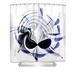 Dazzling Mask Shower Curtain by Thibault Toussaint