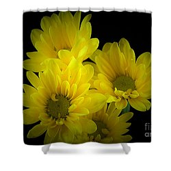 Dazzling Yellow Shower Curtain