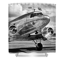 Dc-3 Dakota Shower Curtain by Ian Merton