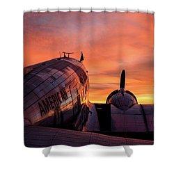 Dc-3 Dawn - 2017 Christopher Buff, Www.aviationbuff.com Shower Curtain