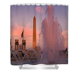 Dc Sunset Shower Curtain