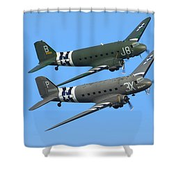 Dc3 Dakota C47 Skytrain Shower Curtain