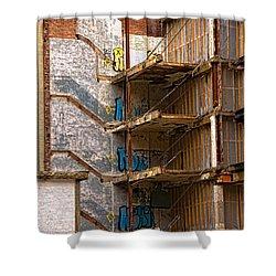 De-construction Shower Curtain
