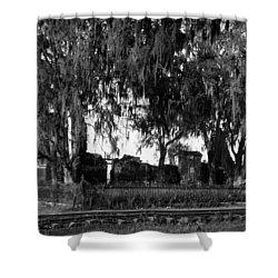 De La Ronde Plantation Home Ruins Shower Curtain