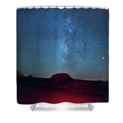 De Na Zin Milky Way Shower Curtain