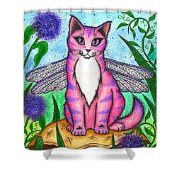 Dea Dragonfly Fairy Cat Shower Curtain