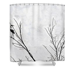 Dead Creek Cranes Shower Curtain