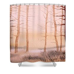 Dead Forest Shower Curtain by Kevin Heaney