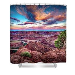 Dead Horse Point At Sunrise Shower Curtain