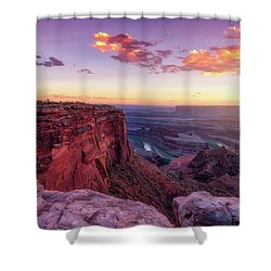 Shower Curtain featuring the photograph Dead Horse Point Sunset by Darren White